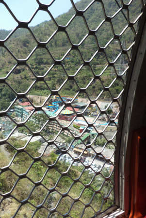window view: outside view from window of a ropeway