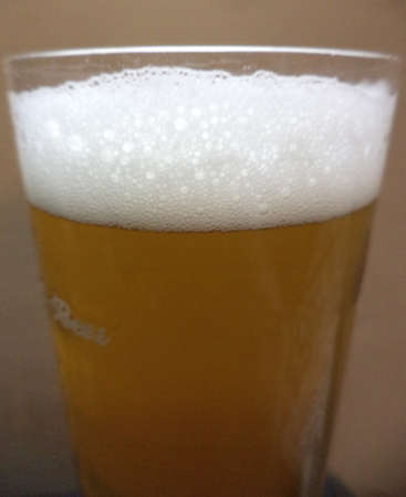 intoxicating: Beer in glass isolated