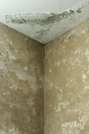 Damp walls Stock Photo