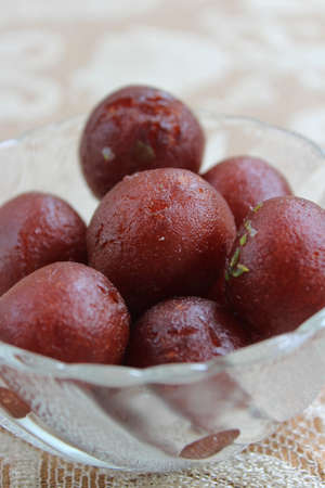 Gulab jamun on the bowl
