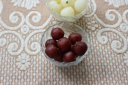 Gulab jamuns and rasgullas
