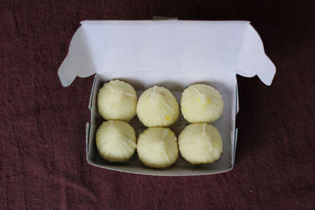 Modak inside a paper box Stock Photo