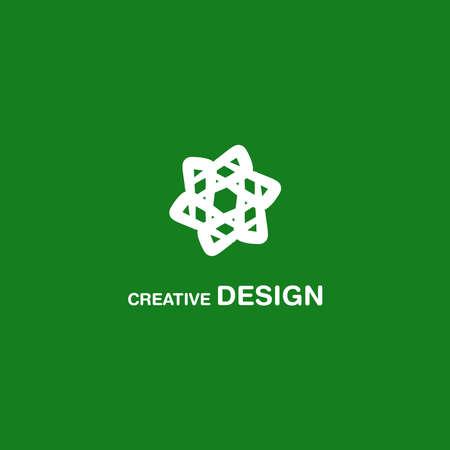 Creative White Abstract Logo Design Vector Art EPS10