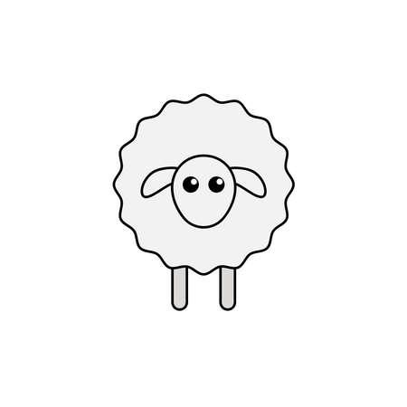 Sheep Icon Conceptual Vector Illustration Design Ilustración de vector