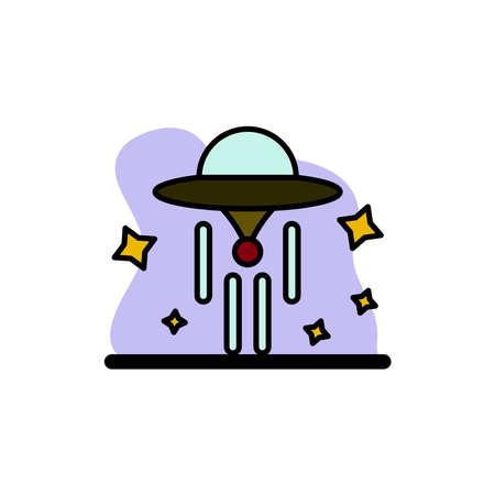 UFO Icon Conceptual Vector Design Illustration eps10 Векторная Иллюстрация