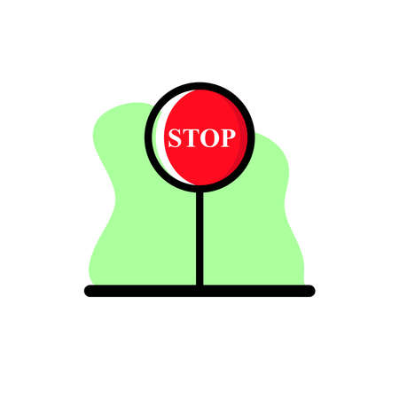 Stop Sign Icon Vector Illustration Design