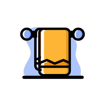 Towel Conceptual Vector Illustration Design