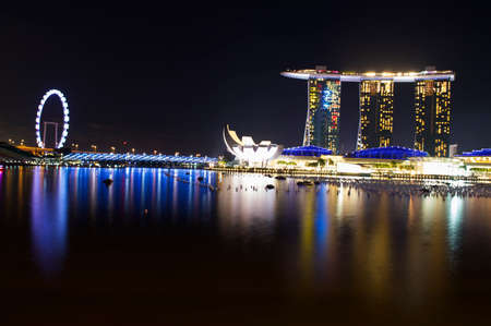 marina bay: Marina Bay Singapore Editorial