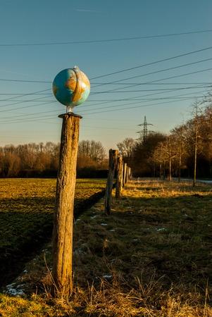 Die Welt auf dem Spiel Standard-Bild - 71822077