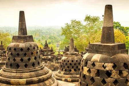 tantric: Several Stupas of Borobudur Java island, Indonesia