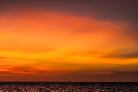 surrealistic: Ridiculous, intense, colorful sunset on Gigantes Islands