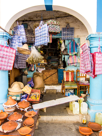white washed: Store in Larache, Morocco