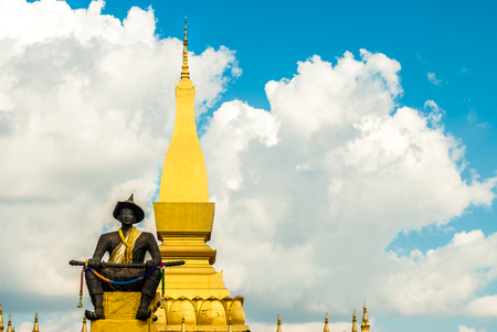 The Great Stupa in Vientiane, Laos Stock Photo