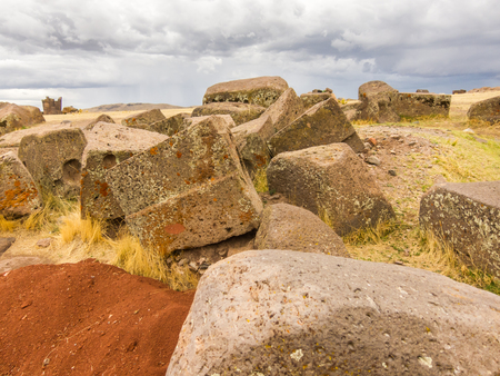 Tombs of Sillustani near Puno, Bolivia