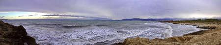 パルマ ・ デ ・ マリョルカから湾の Panoram 画像 写真素材