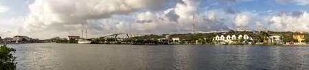brige: Panoramic view of Waaigat and Queen Julianabrug, Willemstad (Curacao)