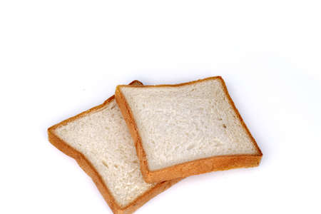 whole wheat toast: sliced bread isolated on white background