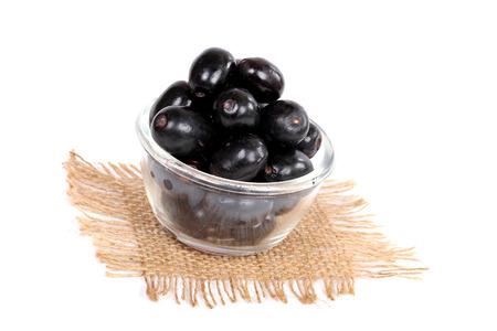 Jambolan plum or jambhul or jamun fruit, Java plum (Syzygium cumini)