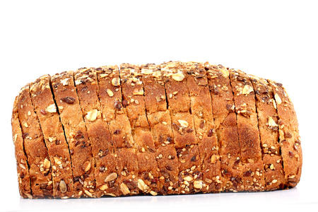 multi grain bread with slices