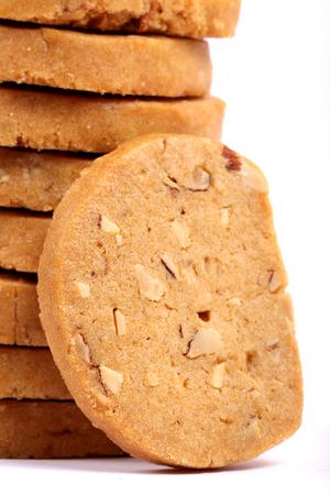 Italian Biscotti in white, almond cookies in white