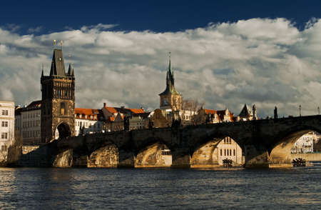 charles bridge: Photo of the Charles bridge in Prague, Czech republic From wiki: The Charles Bridge is a famous historical bridge that crosses the Vltava river in Prague, Czech Republic. Its construction started in 1357 under the auspices of King Charles IV, and finished