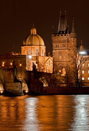 Photo of the Charles bridge in Prague, Czech republic From wiki: The Charles Bridge is a famous historical bridge that crosses the Vltava river in Prague, Czech Republic. Its construction started in 1357 under the auspices of King Charles IV, and finished