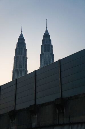 twin tower: Kuala Lumpur Twin Tower in the morning Editorial