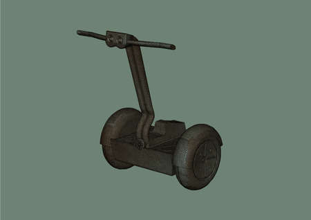 two wheel: Two wheel segway on a grey background the isolated