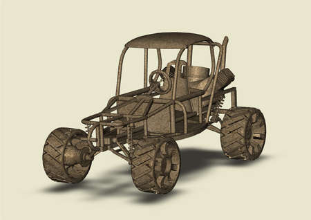 Homemade car picture isolated buggy