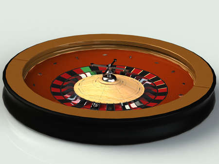 wooden insert: Roulette is a casino with a scoop, wooden insert isolated nickel details