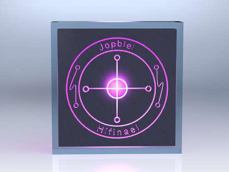 talism�n: Talisman para la buena suerte en sus estudios sobre el brillo de piedra en el cristal