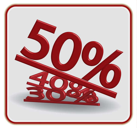 discount banner: discount label banner written, in red text