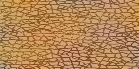 eroded: Abstract vector drawing card. Clay soil with cracks, on a dark background Illustration