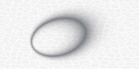 testicle: white oval cracked abstract vector illustration, gray background Illustration