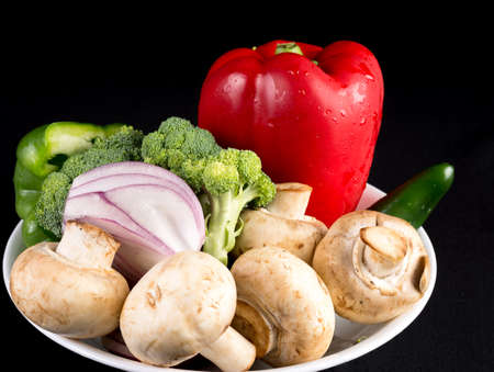 Portion of daily healthy organic vegetable diet