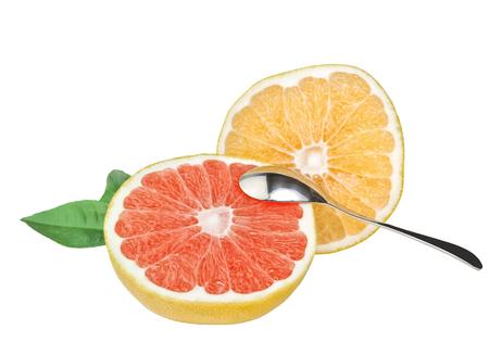 Fresh, ripe organic tropical grapefruit  Stock Photo
