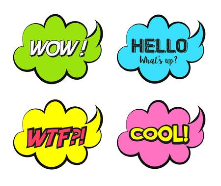 Bubbles speech Illustration