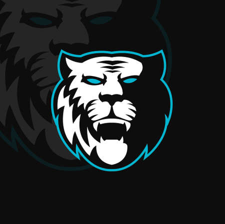 Tiger mascot logo design vector with modern illustration concept style for badge, emblem and t shirt printing. Angry tiger illustration for sport team