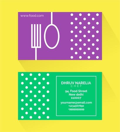 Minimal polka dot business card template design for chef royalty minimal polka dot business card template design for chef stock vector 101937381 wajeb Gallery