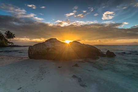 beautiful sunset and sunrise landscape Stock Photo