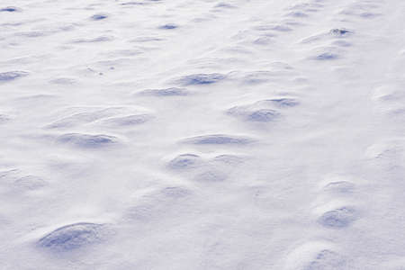 texture features in the winter snow