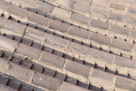 roof tiles: Building roof tiles, close-up Stock Photo