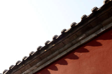 eaves: Beautiful eaves, close-up Stock Photo