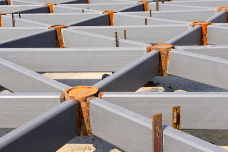 steel structure: Steel structure in construction site