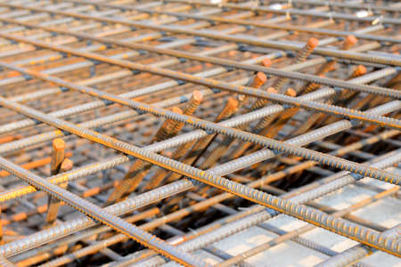 strong foundation: Close-up of reinforced concrete frame