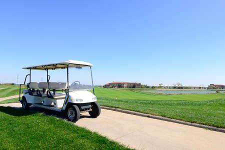 golf cart: Golf cart in a golf course
