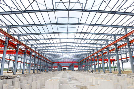 Stahlstruktur Werkstatt ist im Aufbau