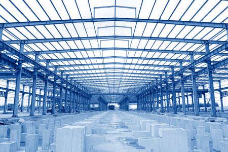 Workshop van de staalstructuur is in aanbouw