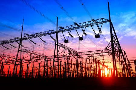 Hoogspanning elektriciteitsnet