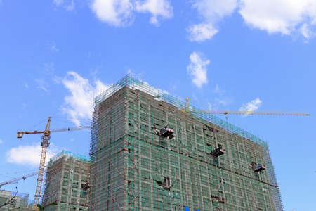 residential construction: Residential building is under construction
